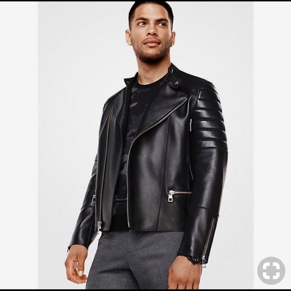 f53b67d4a Michael Kors Mens Moto Leather Jacket NWT